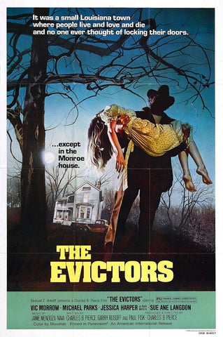 An original movie poster for the film The Evictors