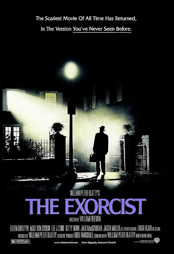An original movie poster for the film The Exorcist