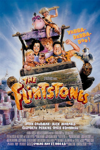 An original movie poster for the film The Flintstones