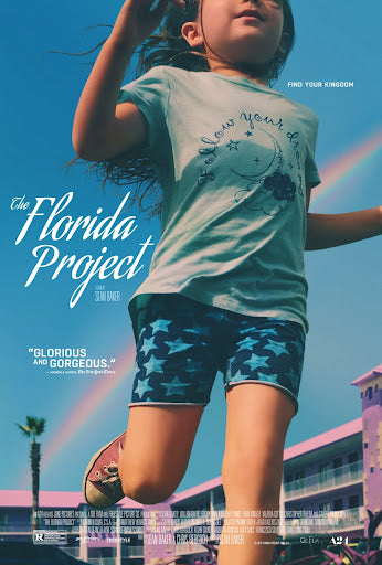 An original movie poster for the A24 film The Florida Project