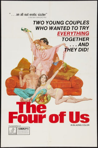 An original movie poster for the film The Four Of Us