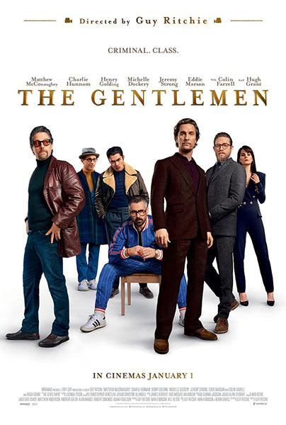An original movie poster for the film The Gentlemen