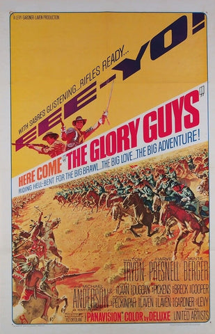 A movie poster by Frank McCarthy for the film The Glory Guys