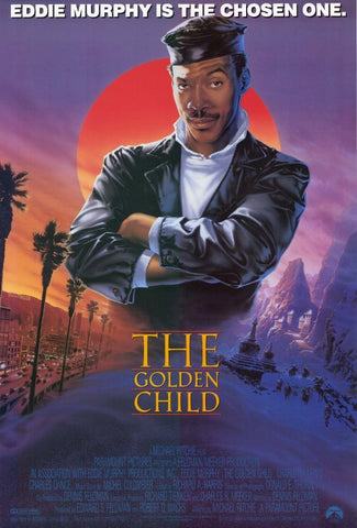 An original movie poster for the film The Golden Child by John Alvin