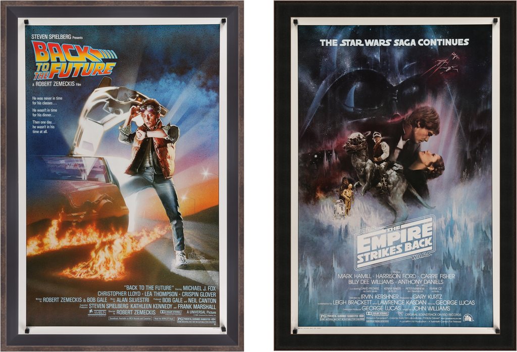 A photo of movie / film posters for The Empire Strikes Back and Back To The Future