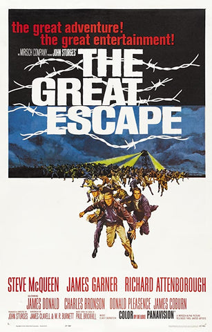 A movie poster by Frank McCarthy for the film The Great Escape
