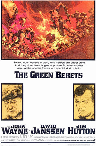 A movie poster by Frank McCarthy for the film The Green Berets