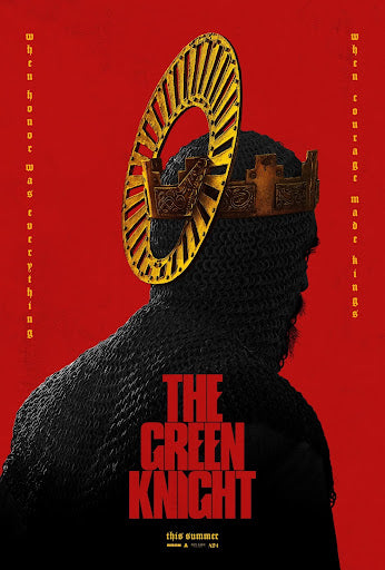 An original movie poster for the A24 film The Green Knight