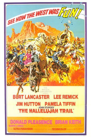 A movie poster by Frank McCarthy for the film The Hallelujah Trail