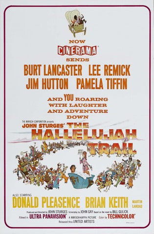 An original movie poster for the film The Hallelujah Trail