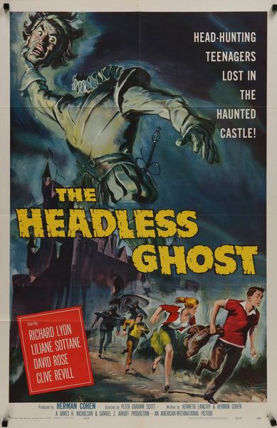 An original movie poster for the film The Headless Ghost