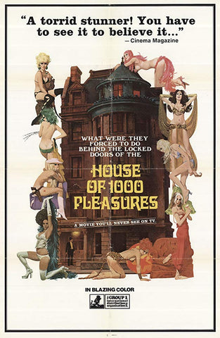 An original movie poster for the film The House of 1000 Pleasures