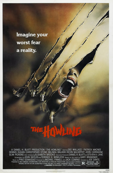An original movie poster for The Howling
