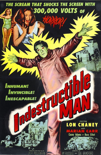 A movie poster for the film The Indestructible Man
