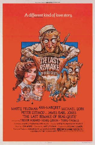 An original movie poster for the film The Last Remake of Beau Geste