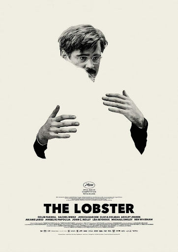 An original movie poster for the A24 film The Lobster
