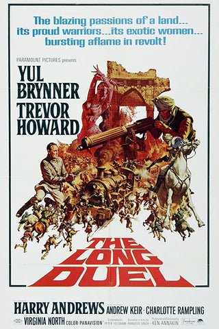 A movie poster by Frank McCarthy for the film The Long Duel