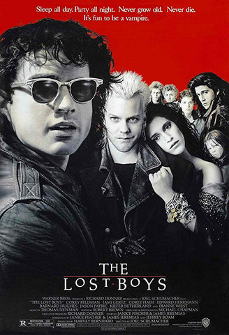 An original movie poster for the film The Lost Boys by John Alvin