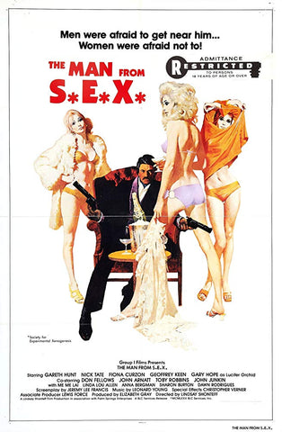 An original movie poster for the film The Man From S.E.X.
