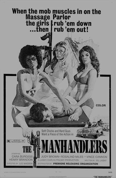 The movie poster for the film The Manhandlers by John Solie