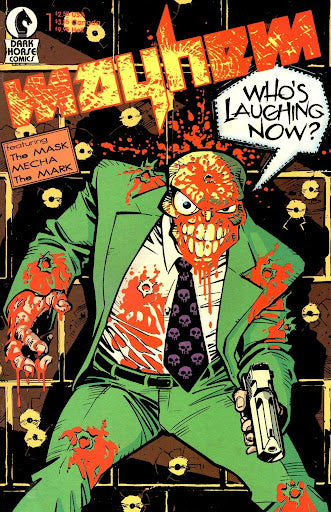 A Mayhem comic book cover showing The Mask