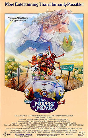 An original movie poster for the film The Muppet Movie