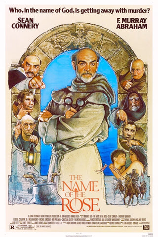 An original movie poster for the film The Name of the Rose