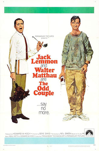 An original movie poster for the film The Odd Couple