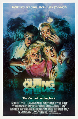 An original movie poster for the film The Outing