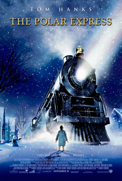 An original movie poster for the film The Polar Express