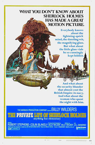 An original movie poster for the film The Private Life of Sherlock Holmes