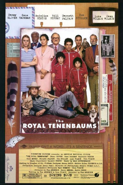 An original movie poster for the Wes Anderson film The Royal Tenenbaums