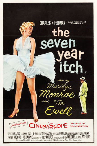 An original movie poster for the Marilyn Monroe film The Seven Year Itch