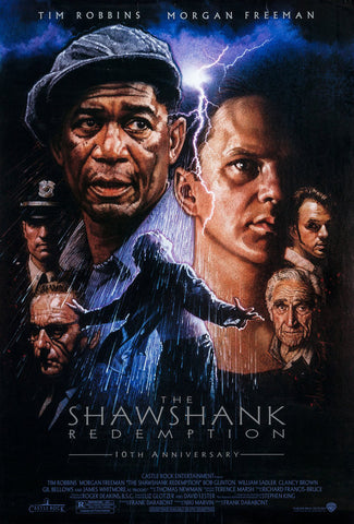 An original movie poster for the film The Shawshank Redemption