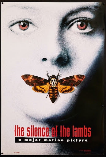 An original movie poster for the film Silence of the Lambs
