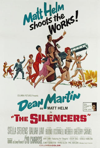 An original movie poster for the film The Silencers