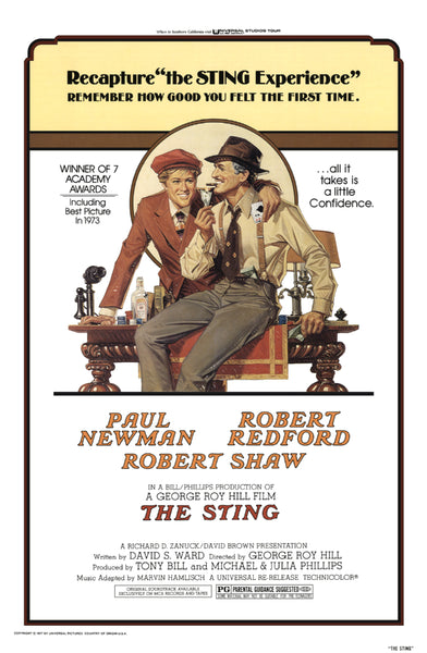 Richard Amsel's movie poster for the film The Sting