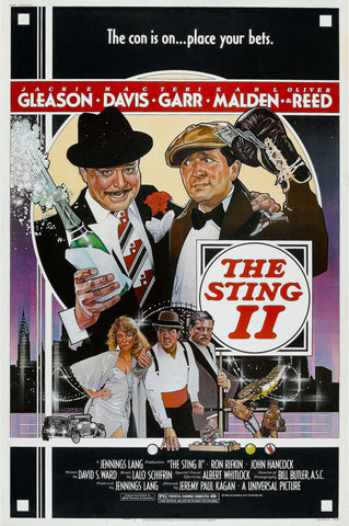 An original movie poster for the film The Sting 2