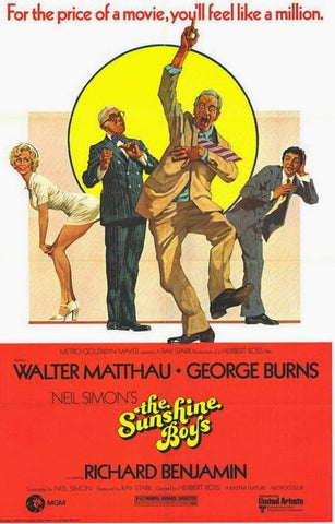 An original movie poster for the film The Sunshine Boys