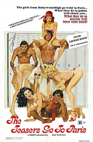 An original movie poster for the film The Teasers Go To Paris