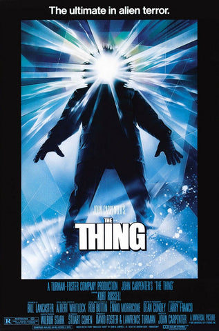 An original movie poster for the film The Thing