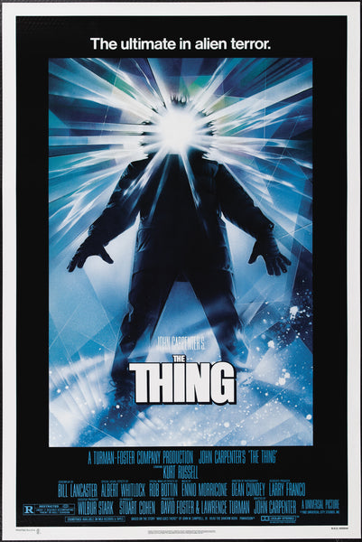 An original movie poster for the John Carpenter film The Thing