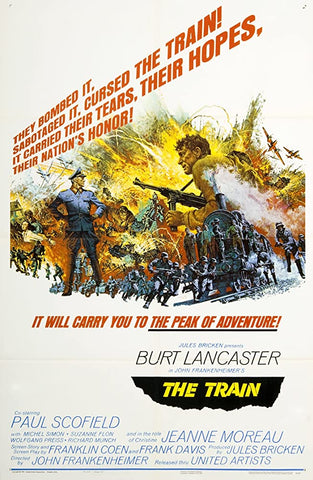 A movie poster by Frank McCarthy for the film The Train