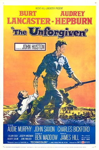 A movie poster by Frank McCarthy for the film The Unforgiven
