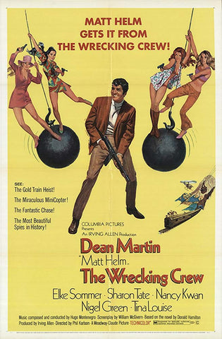 An original movie poster for the film The Wrecking Crew