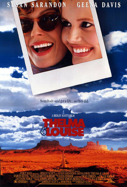 An original movie poster for the film Thelma and Louise