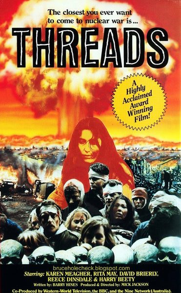 An original movie poster for the film Threads