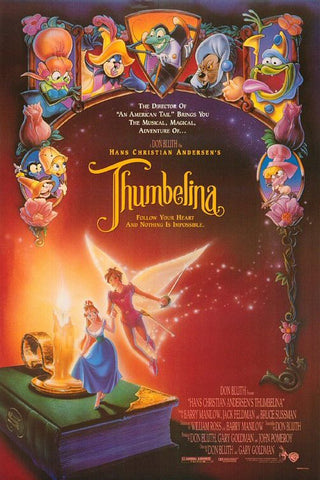 An original movie poster for the film Thumbelina by John Alvin