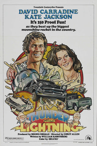 An original movie poster for the film Thunder and Lightning