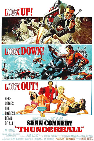 A movie poster by Frank McCarthy for the James Bond film Thunderball